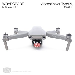 <img class='new_mark_img1' src='https://img.shop-pro.jp/img/new/icons12.gif' style='border:none;display:inline;margin:0px;padding:0px;width:auto;' />WRAPGRADE for DJI Mavic Air 2 アクセントカラー A チタニウム