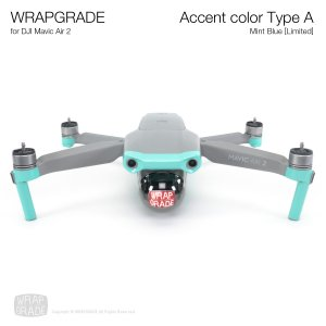<img class='new_mark_img1' src='https://img.shop-pro.jp/img/new/icons12.gif' style='border:none;display:inline;margin:0px;padding:0px;width:auto;' />WRAPGRADE for DJI Mavic Air 2 アクセントカラー A ミントブルー【Limited】