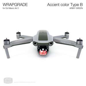 <img class='new_mark_img1' src='https://img.shop-pro.jp/img/new/icons12.gif' style='border:none;display:inline;margin:0px;padding:0px;width:auto;' />WRAPGRADE for DJI Mavic Air 2 アクセントカラー B アーミーグリーン