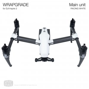 <img class='new_mark_img1' src='https://img.shop-pro.jp/img/new/icons12.gif' style='border:none;display:inline;margin:0px;padding:0px;width:auto;' />WRAPGRADE for DJI Inspire 2 レーシングホワイト