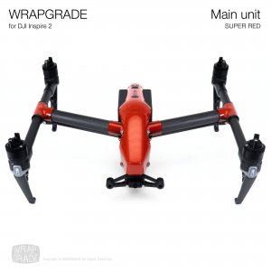 <img class='new_mark_img1' src='https://img.shop-pro.jp/img/new/icons12.gif' style='border:none;display:inline;margin:0px;padding:0px;width:auto;' />WRAPGRADE for DJI Inspire 2 スーパーレッド