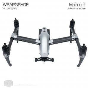 <img class='new_mark_img1' src='https://img.shop-pro.jp/img/new/icons12.gif' style='border:none;display:inline;margin:0px;padding:0px;width:auto;' />WRAPGRADE for DJI Inspire 2 エアーフォースシルバー