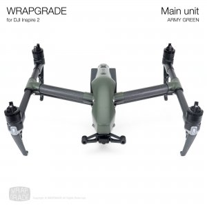 <img class='new_mark_img1' src='https://img.shop-pro.jp/img/new/icons12.gif' style='border:none;display:inline;margin:0px;padding:0px;width:auto;' />WRAPGRADE for DJI Inspire 2 アーミーグリーン