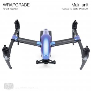 <img class='new_mark_img1' src='https://img.shop-pro.jp/img/new/icons12.gif' style='border:none;display:inline;margin:0px;padding:0px;width:auto;' />WRAPGRADE for DJI Inspire 2 セレストブルー【Premium】
