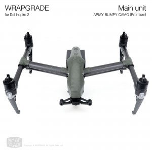 <img class='new_mark_img1' src='https://img.shop-pro.jp/img/new/icons12.gif' style='border:none;display:inline;margin:0px;padding:0px;width:auto;' />WRAPGRADE for DJI Inspire 2 アーミーバンピーカモ【Premium】【Limited】