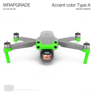 <img class='new_mark_img1' src='https://img.shop-pro.jp/img/new/icons12.gif' style='border:none;display:inline;margin:0px;padding:0px;width:auto;' />WRAPGRADE for DJI Air 2S アクセントカラー A ネオングリーン