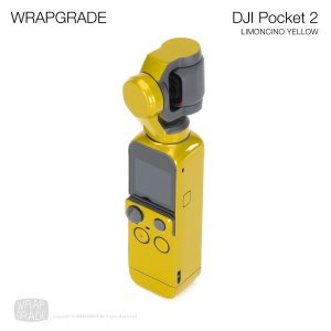 <img class='new_mark_img1' src='https://img.shop-pro.jp/img/new/icons12.gif' style='border:none;display:inline;margin:0px;padding:0px;width:auto;' />WRAPGRADE for DJI Pocket 2 リモンチーノイエロ