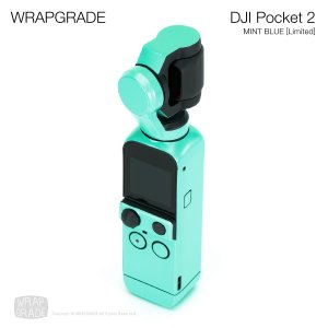 <img class='new_mark_img1' src='https://img.shop-pro.jp/img/new/icons12.gif' style='border:none;display:inline;margin:0px;padding:0px;width:auto;' />WRAPGRADE for DJI Pocket 2 ミントブルー【Limited】