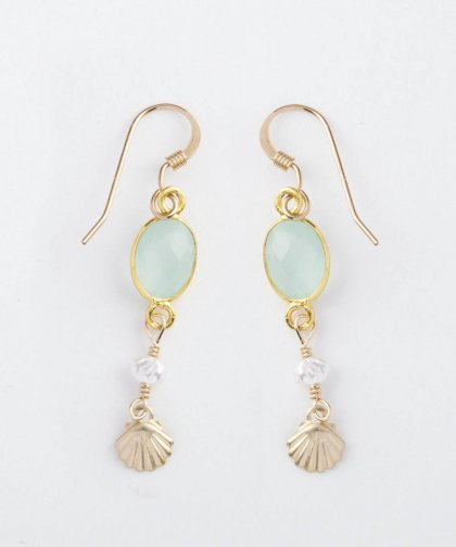 【LADIES】Lino by me Hawaii Shell motif pierced earring / シェル モチーフ ピアス