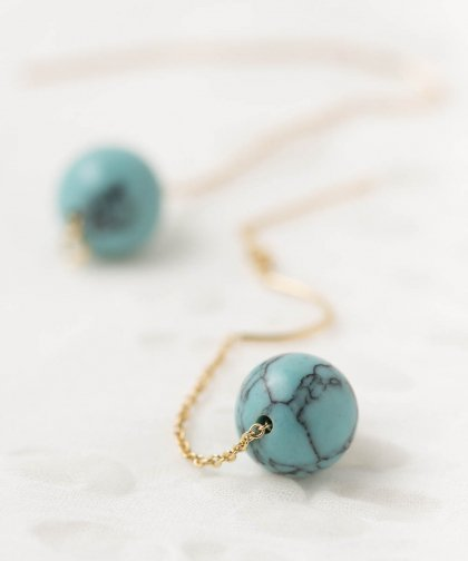 【LADIES】Lan Vo Turquoise  Pierced Earring / ターコイズ ピアス