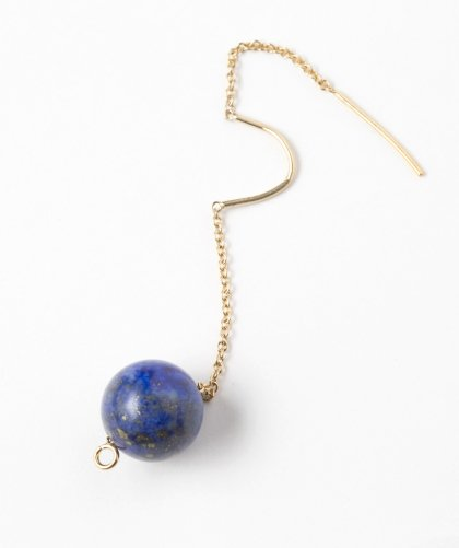【LADIES】Lan Vo Swing Type Lapis lazuli Pierced Earring / ラピスラズリ ピアス