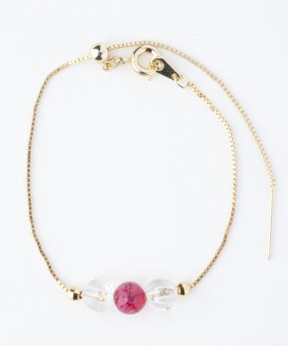 【LADIES】Lan Vo jaide×Quartz Bracelet / ジェイド×クォーツ ブレスレット