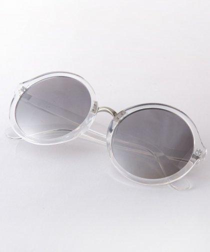 【LADIRES】Sunglasses CLEAR / サングラス シルバーフレーム