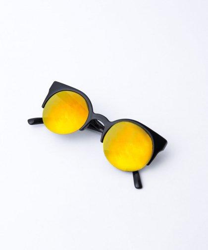 【LADIES】Round Lens Sunglasses / ラウンドレンズ サングラス