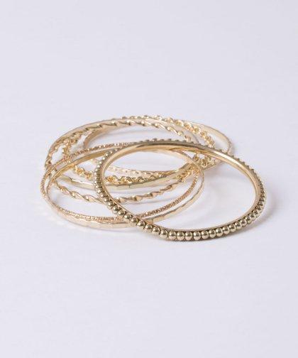 【LADIES】Gold Bracelet 7set / ゴールド ブレスレット 7セット