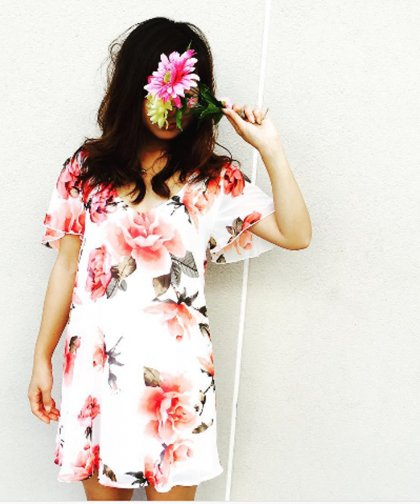 【LADIES】Show Me Your Mumu Rose Chiffon Dress / ローズシフォンワンピース