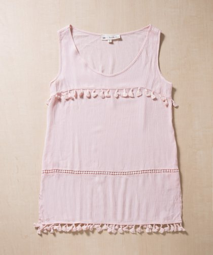【LADIES】Vanilla Bay Pink Tassel Dress / ピンク タッセルドレス