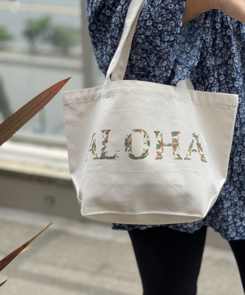 Authentic ALOHA Tote /オーセンティック アロハ トートバッグ<ポケット・厚底付き>