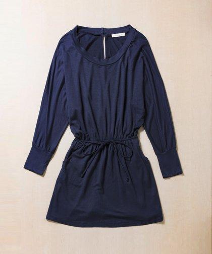 【LADIES】ILLAILLA Navy Long Sleeve Dress/ネイビーロングスリーブワンピース