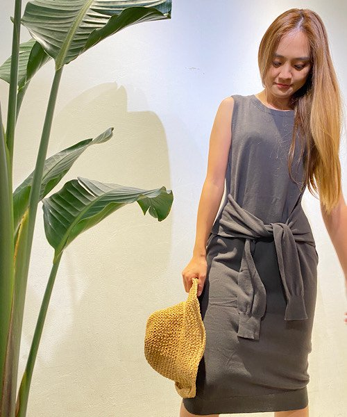 【SALE50%OFF】【LADIES】ELLISON Wrap&tie Sweater Dress