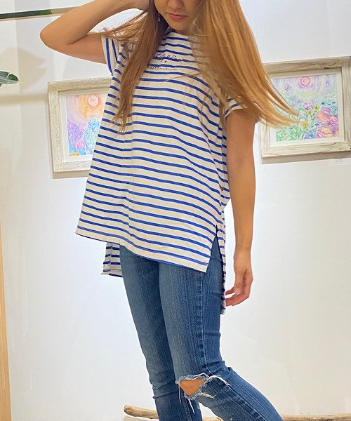【SALE70%OFF】【LADIES】ボーダーロゴTシャツ