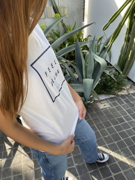 【SALE50%OFF】【UNISEX】「ハワイに恋して!」コラボFEEL ALOHA Tシャツ