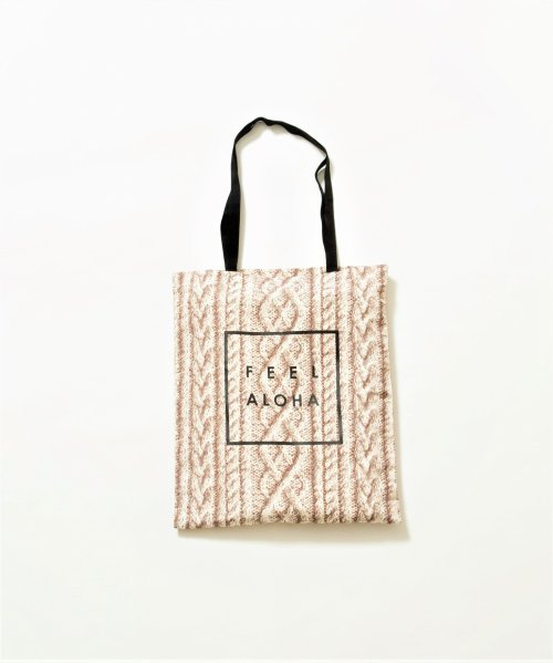 knit・Flower Pattern ECO Tote/花柄・ニット柄 エコトート