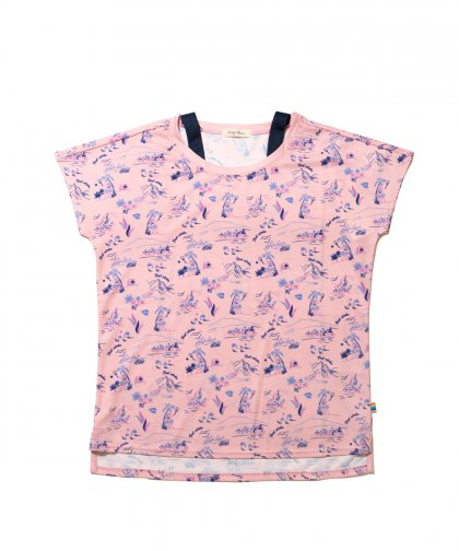 [LADIES] [テニスウェア] 柄Tシャツ
