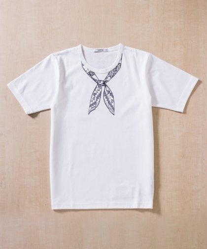 【UNISEX】ラトルトラップコラボレーション/スカーフプリントTシャツ