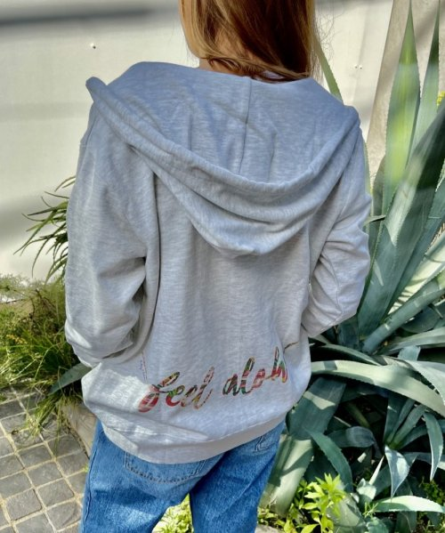 【UNISEX】Sweet heart Feel ALOHA Zip Hoodie/FEEL ALOHAパーカー