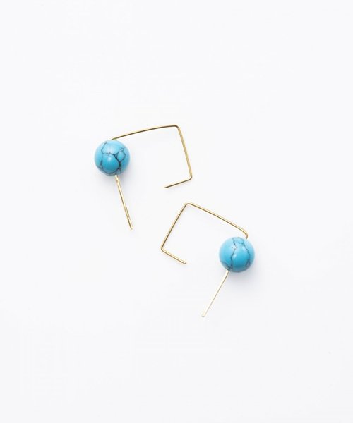 【LADIES】Lan Vo Turquoise  Pierced  Earring/ターコイズ ピアス
