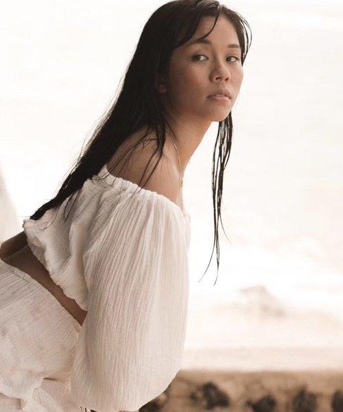 【SALE10%OFF】【LADIES】MUSE by RIMO/コットンガーゼパフスリーブトップス