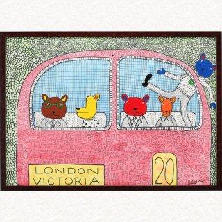 クマのファミリー ロンドンバス