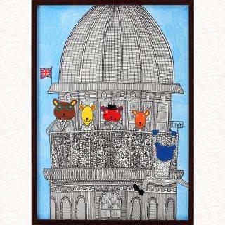 クマのファミリー セントポール寺院