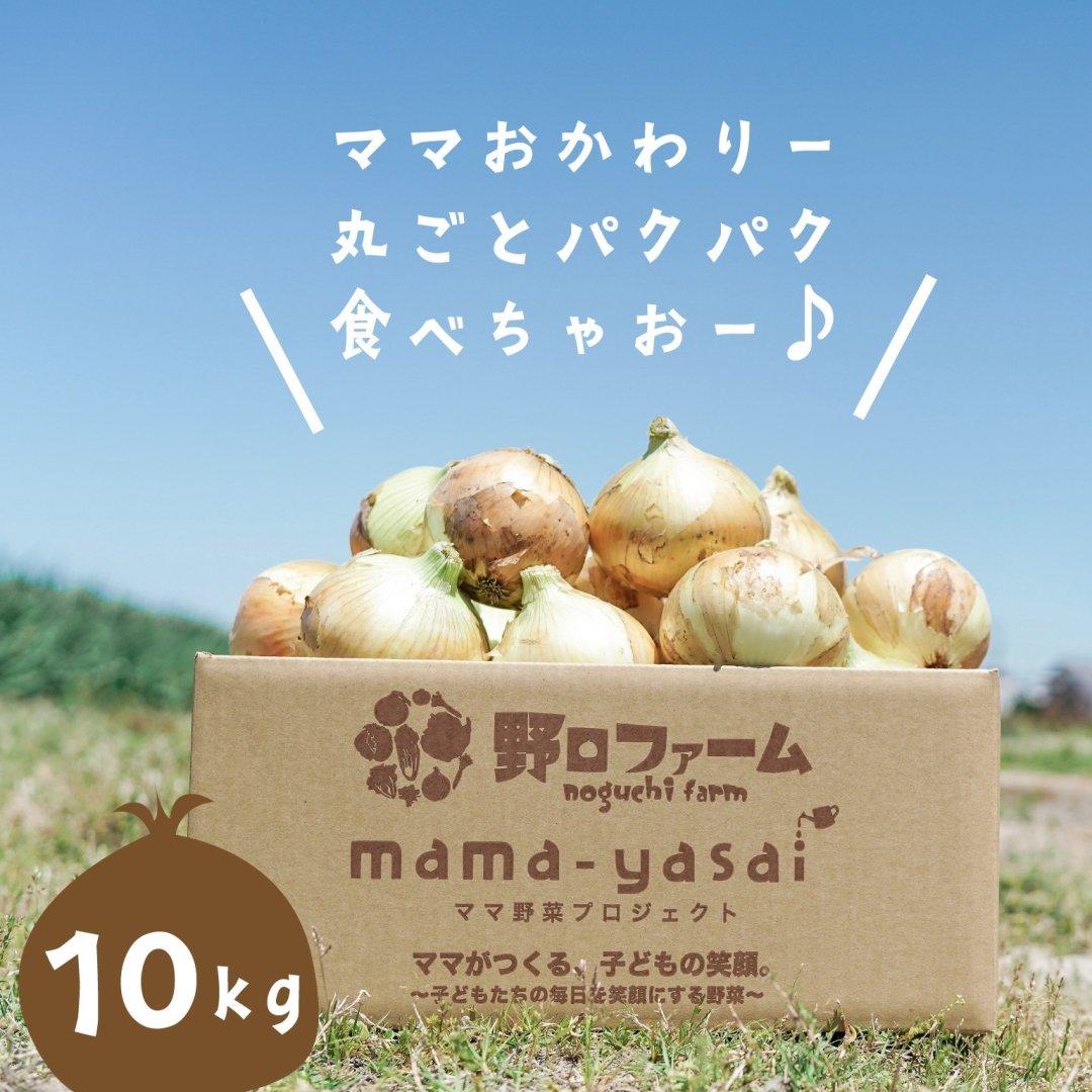 mama-yasai 春の新たまねぎ10kg 【子どもたちが丸ごと食べちゃう♪新たまねぎ】【大人気】