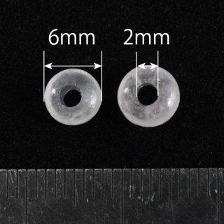 ローズクォーツ ロンデル6mm(2mm穴)10個