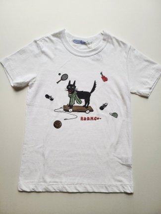 black wolf柄 半袖Tシャツ