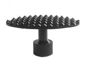 glue tab with pyramid structure, 48 mm, oval / curved(3個入り)