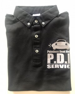 ポロシャツ 黒(L)