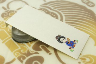 日本髪娘封筒 お正月・羽子板(結綿)