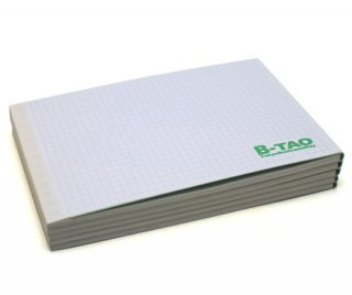 B-TAOパッド ノンカーボン複写紙(白) 5mm方眼 50組 5冊組