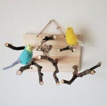 止まり木の壁掛けアスレチック
