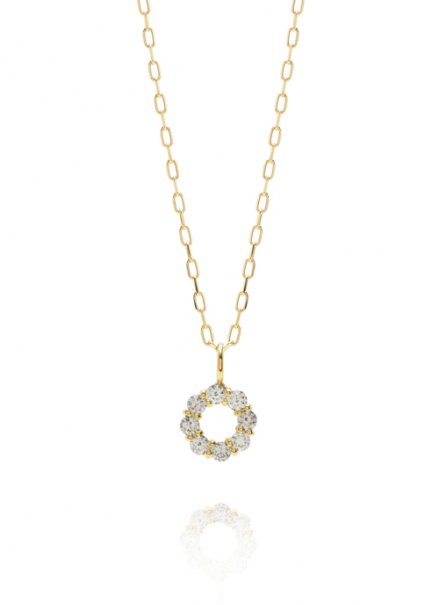 K18 0.1ct ダイヤモンドネックレス