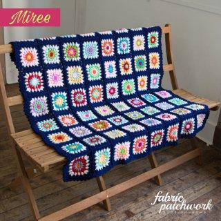 Miree かぎ針編みブランケット ネイビー ny0001