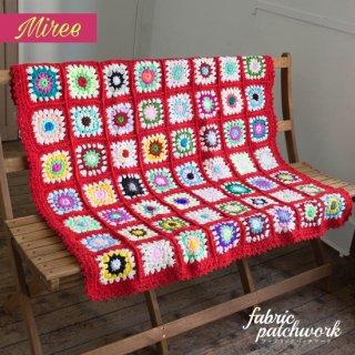 Miree かぎ針編みブランケット レッド r0001