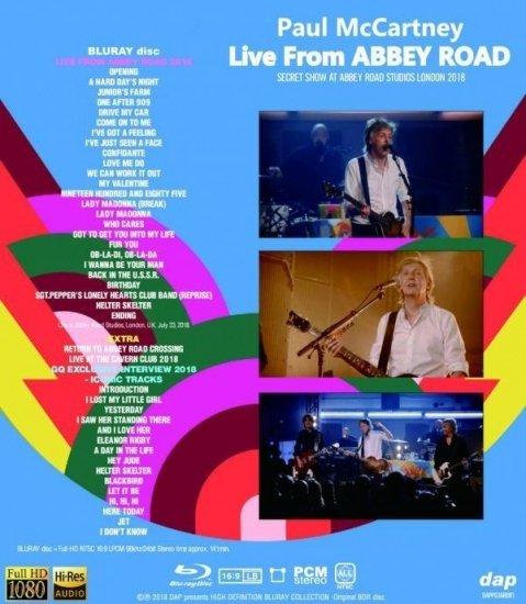 PAUL McCARTNEY / LIVE FROM ABBEY ROAD