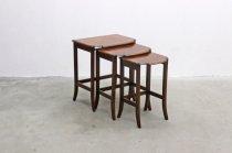 英国 イギリス ヴィンテージ ウォールナット材 クラシカル ネストテーブル サイドテーブル アンティーク