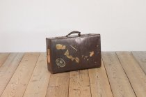ヴィンテージ トランク 英国 イギリス レザー 収納 旅行鞄 カバン ディスプレイ 1