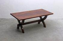 英国 イギリス オーク無垢材 ダイニングテーブル 楔 クラシカル 作業台 陳列台