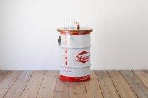 US ヴィンテージ カウンタテーブル ドラム缶 サイドテーブル 飾り台 什器 アメリカ